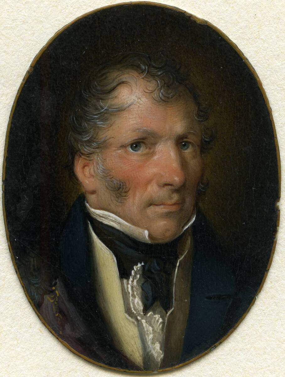 Miniaturporträt eines Mannes (aus dem Inventar übernommener Titel) von Purkholzer, Karl