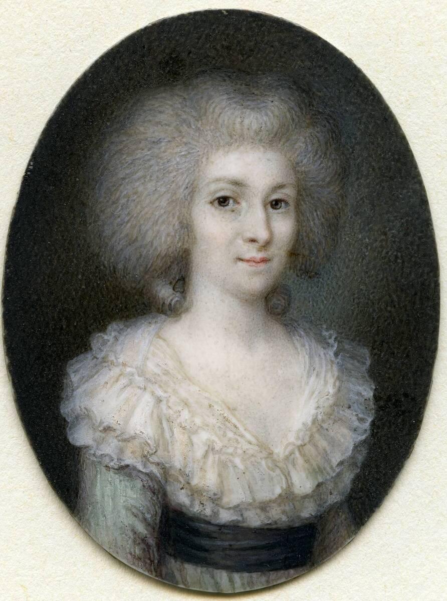 Miniaturporträt einer Dame in Perücke von Anonym