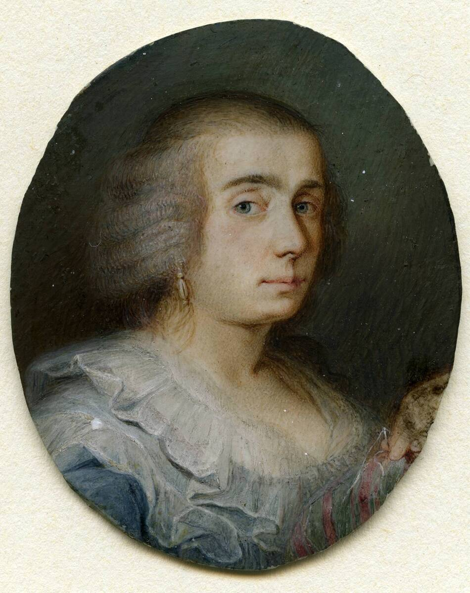 Miniaturporträt einer Dame von Anonym