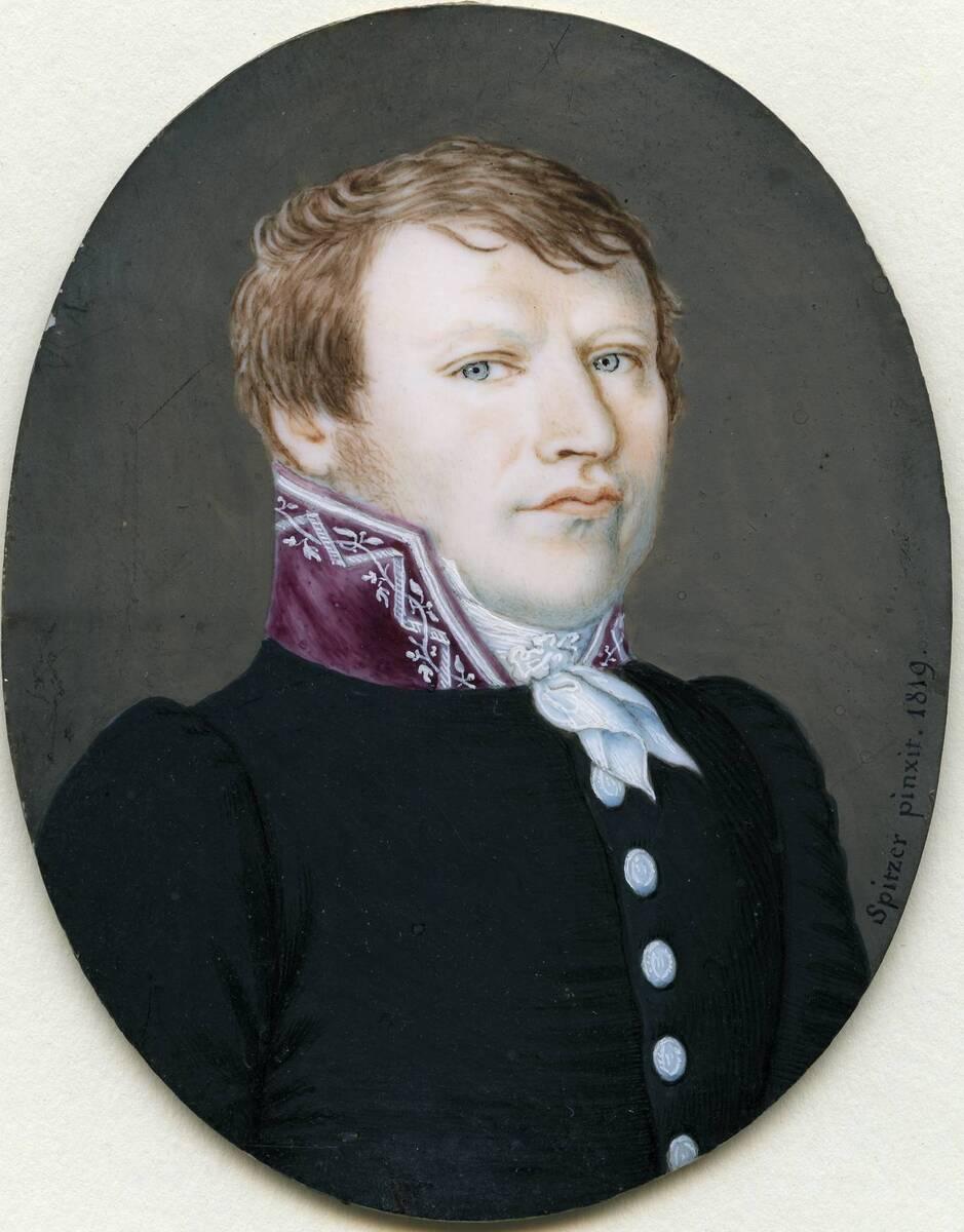 Miniaturporträt eines Herrn (aus dem Inventar übernommener Titel) von Spitzer