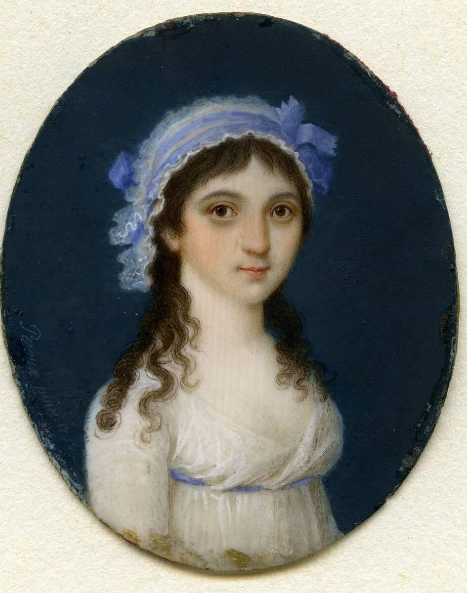 Miniaturporträt einer jungen Dame (aus dem Inventar übernommener Titel) von Peroux, Joseph Nicolaus