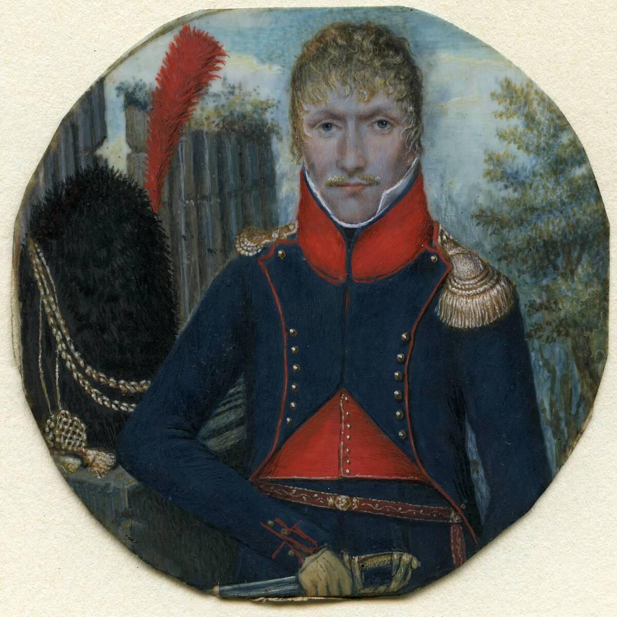 Miniaturporträt eines Wiener Bürgergardisten von Anonym