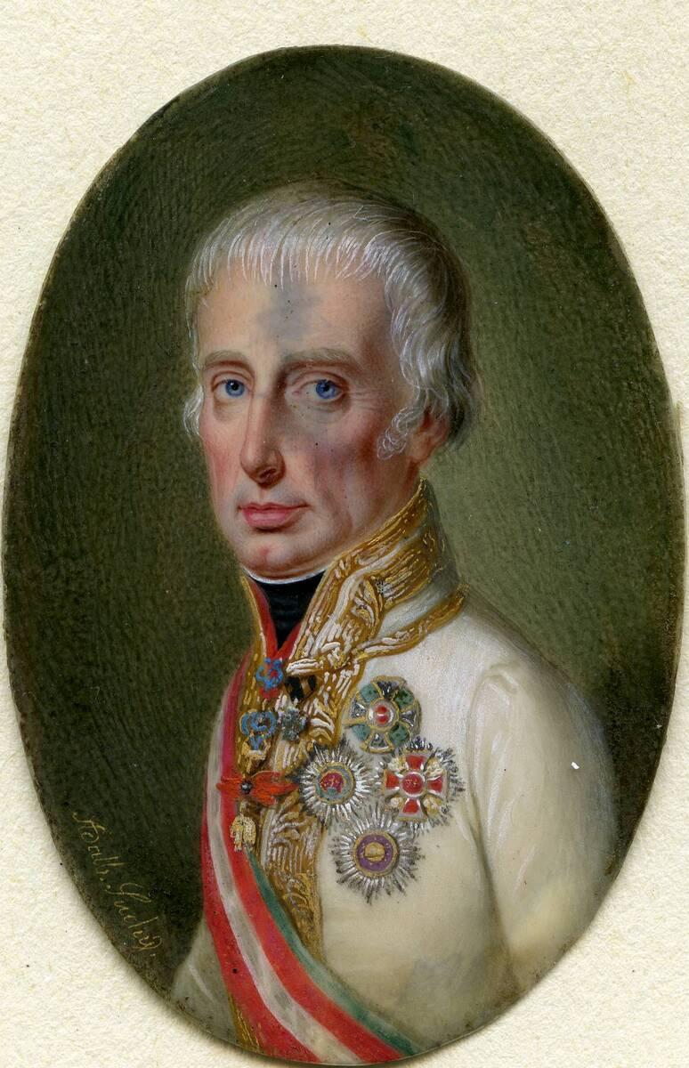 Miniaturporträt Kaiser Franz I. von Anonym