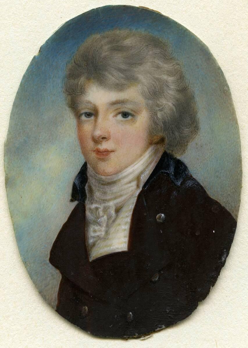 Miniaturporträt eines jungen Mannes von Anonym