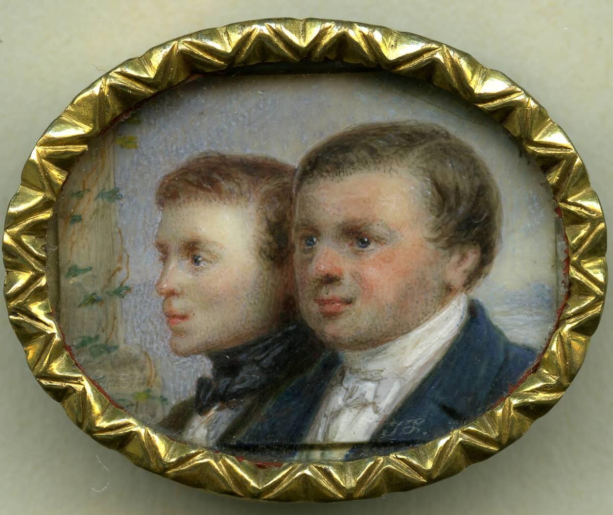 Miniaturporträt des Vaters und Bruders des Künstlers von Friedrich, Johann Nepomuk