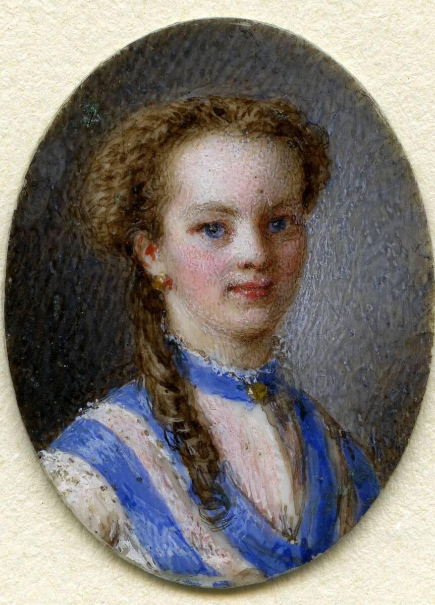Miniaturporträt der ältesten Tochter des Künstlers, Marie (aus dem Inventar übernommener Titel) von Friedrich, Johann Nepomuk