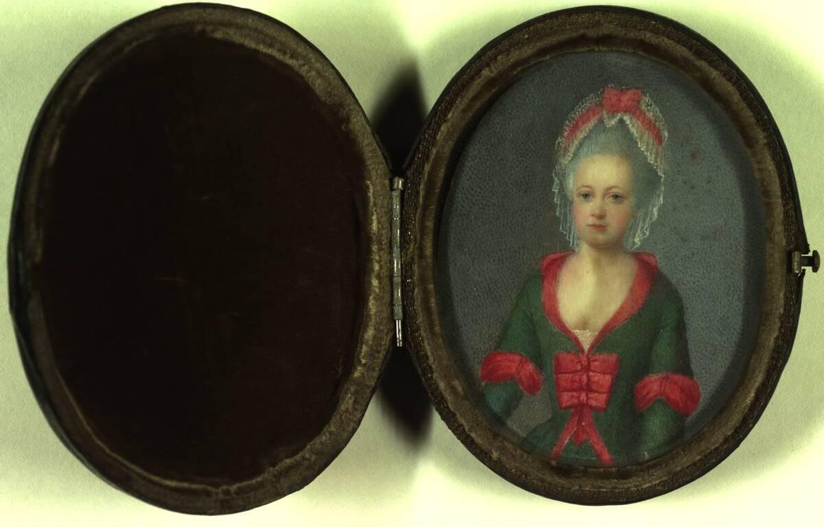 Miniaturporträt einer jungen Frau von Anonym