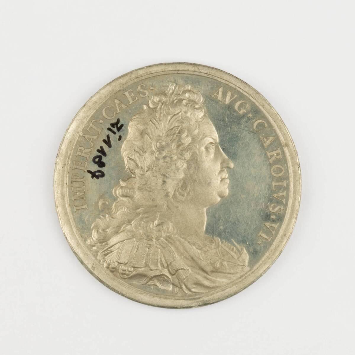 Medaille auf die Krönung Kaiser Karl VI. als König von Böhmen von Richter, Benedikt