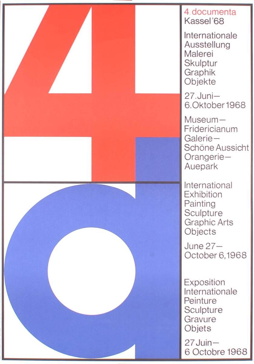 4 d. 4. documenta. Kassel '68. (Kurztitel) von Anonym