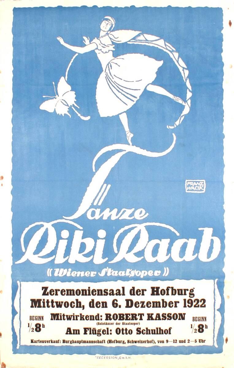 Tänze Riki Raab von Wacik, Franz