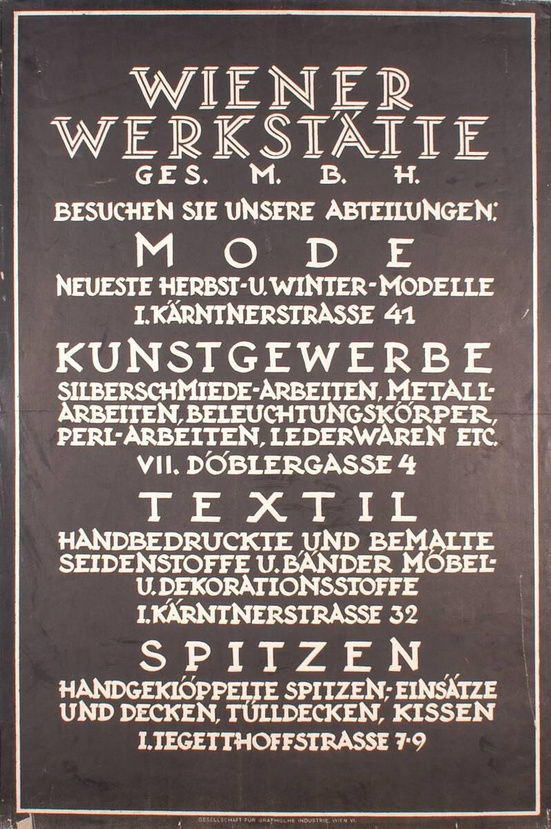 Wiener Werkstätte Ges.m.b.H. (Kurztitel) von Anonym