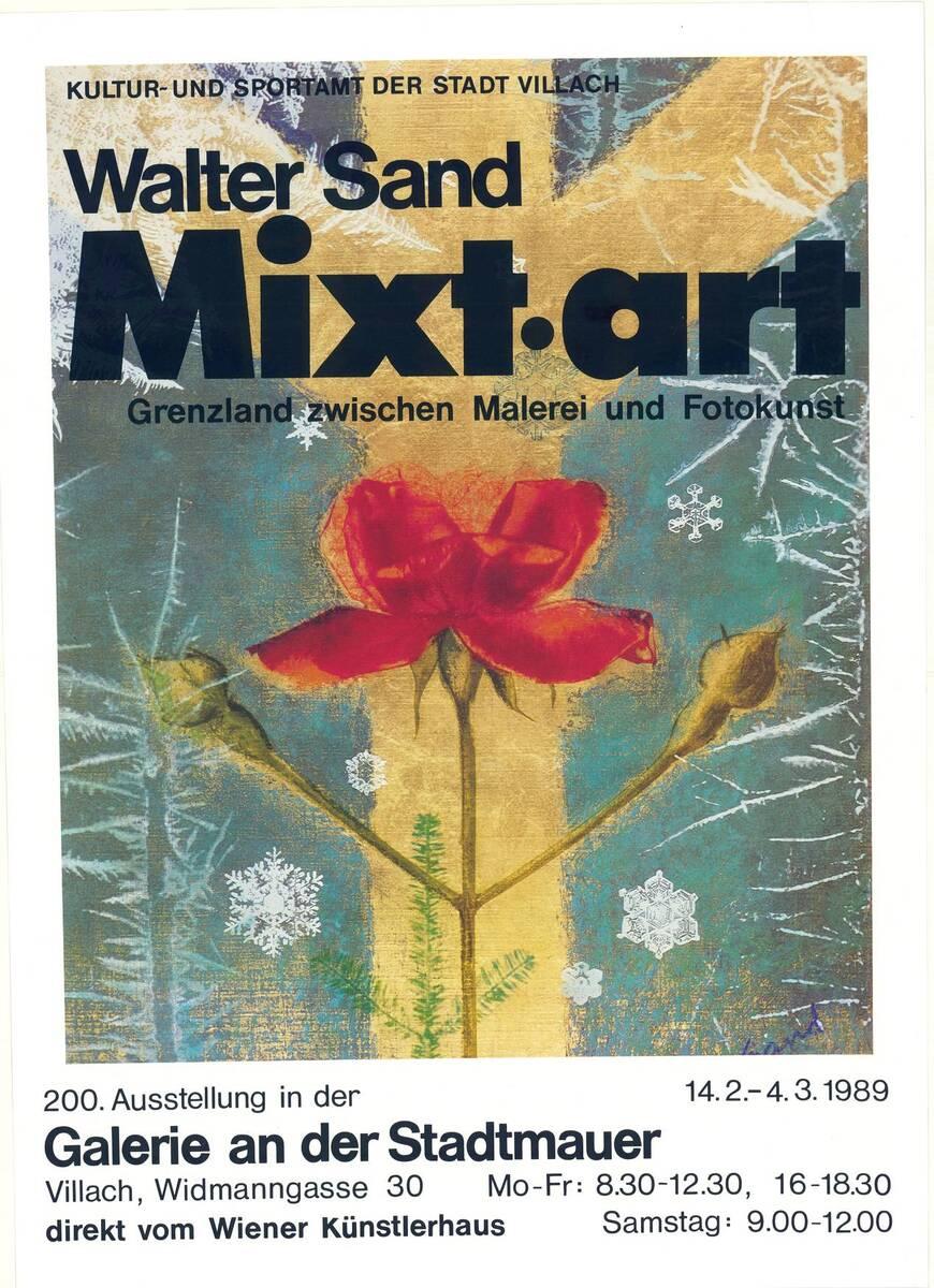 Walter Sand. Foto Mxt - art (Kurztitel) von Anonym
