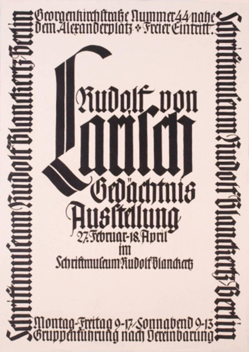 Rudolf von Larisch (Kurztitel) von Larisch, Rudolf von <Fachklasse>