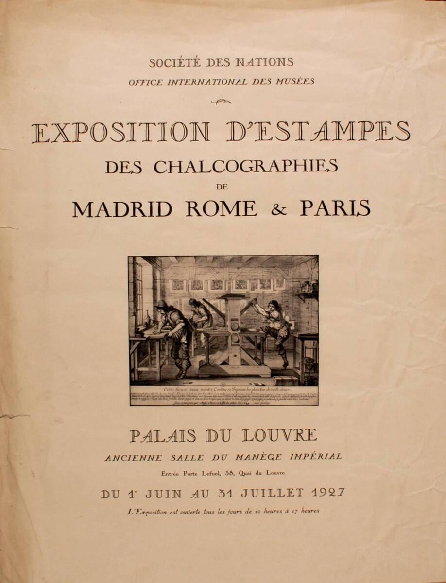 Exposition d' Estampes (Kurztitel) von Anonym