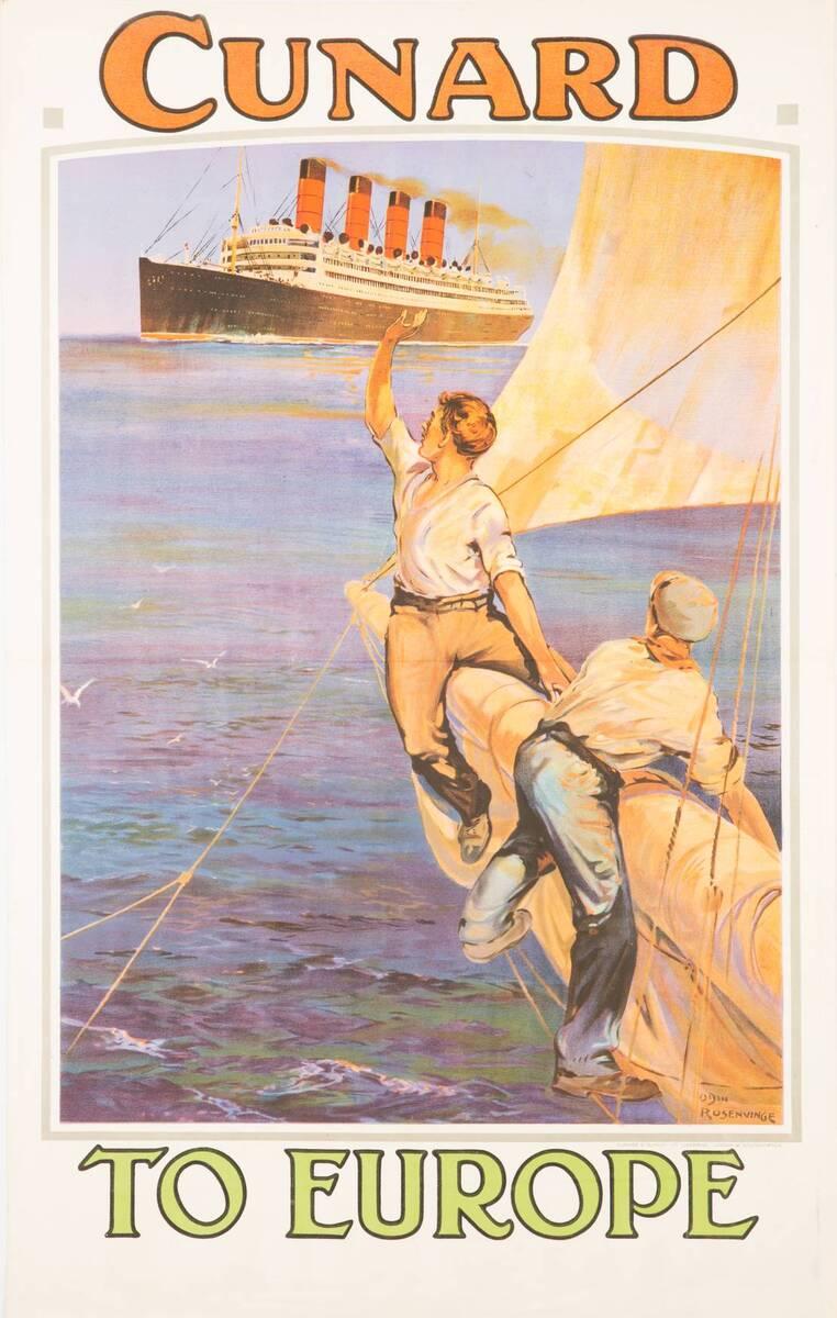 Cunard to Europe (Kurztitel) von Rosenvinge, Odin