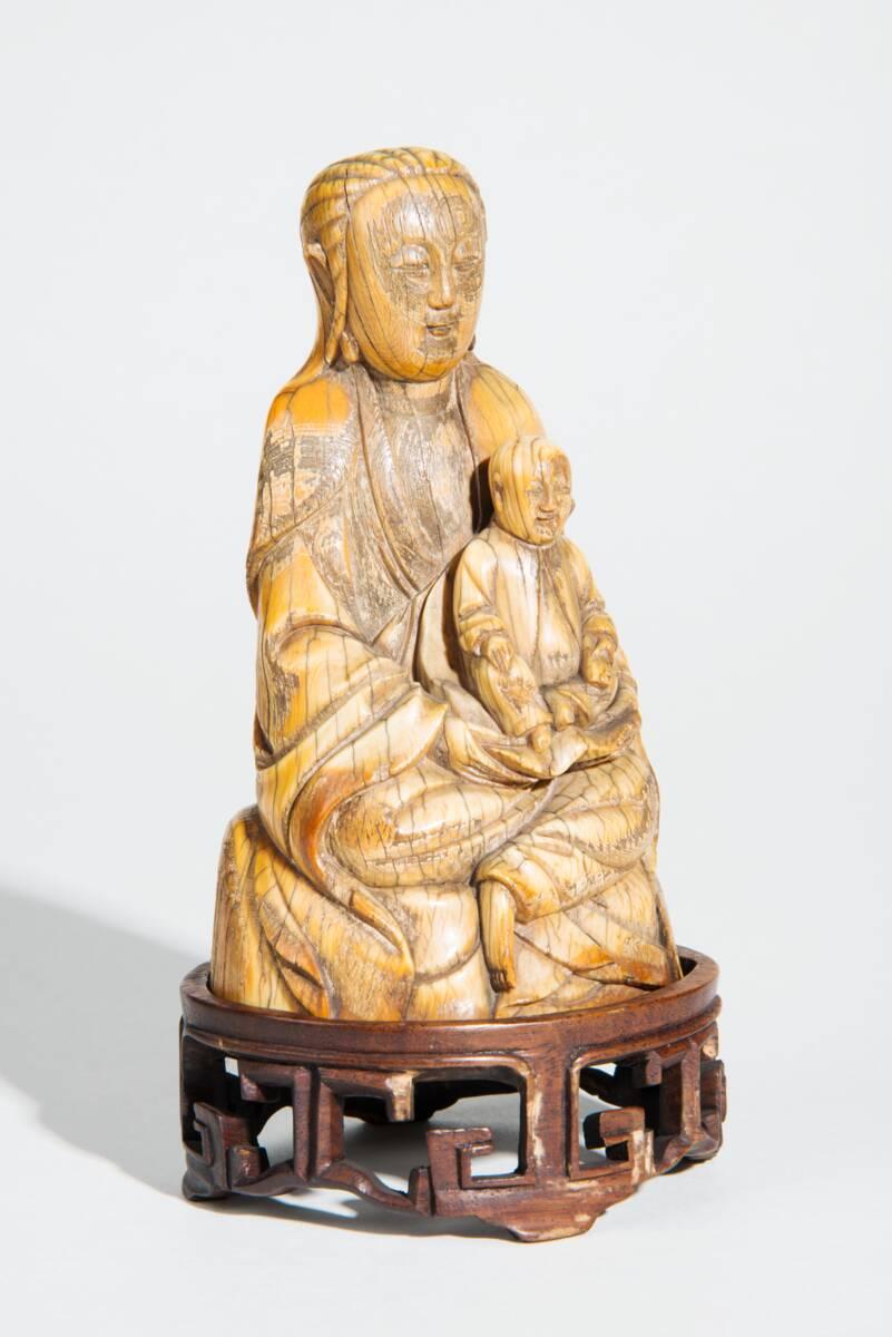 """Songzi Niangniang (送子娘娘, """"die Kinderbringerin""""), in Taiwan auch Zhusheng Niangniang (註生娘娘), daoistische Göttin von Anonym"""