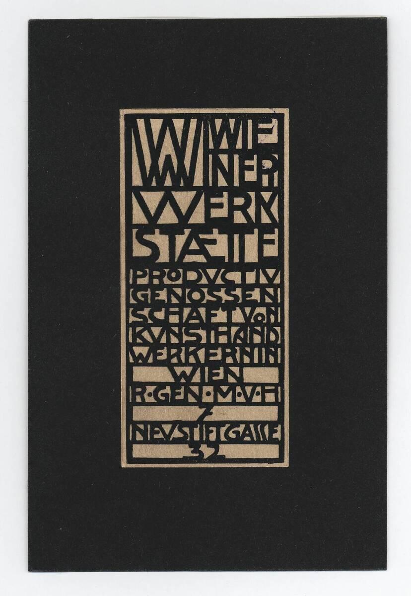 Arbeitsprogramm der Wiener Werkstätte
