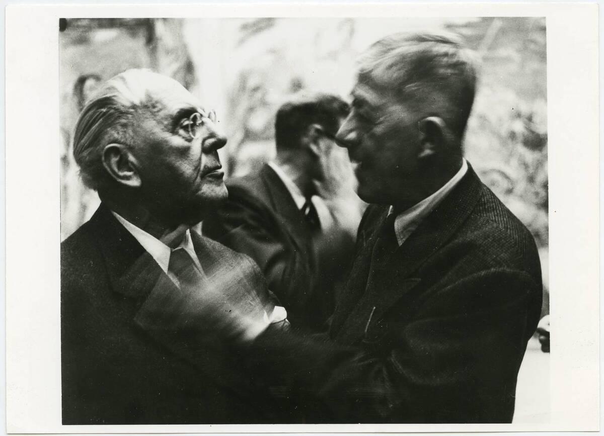 Josef Hoffmann und Oskar Kokoschka von Anonym