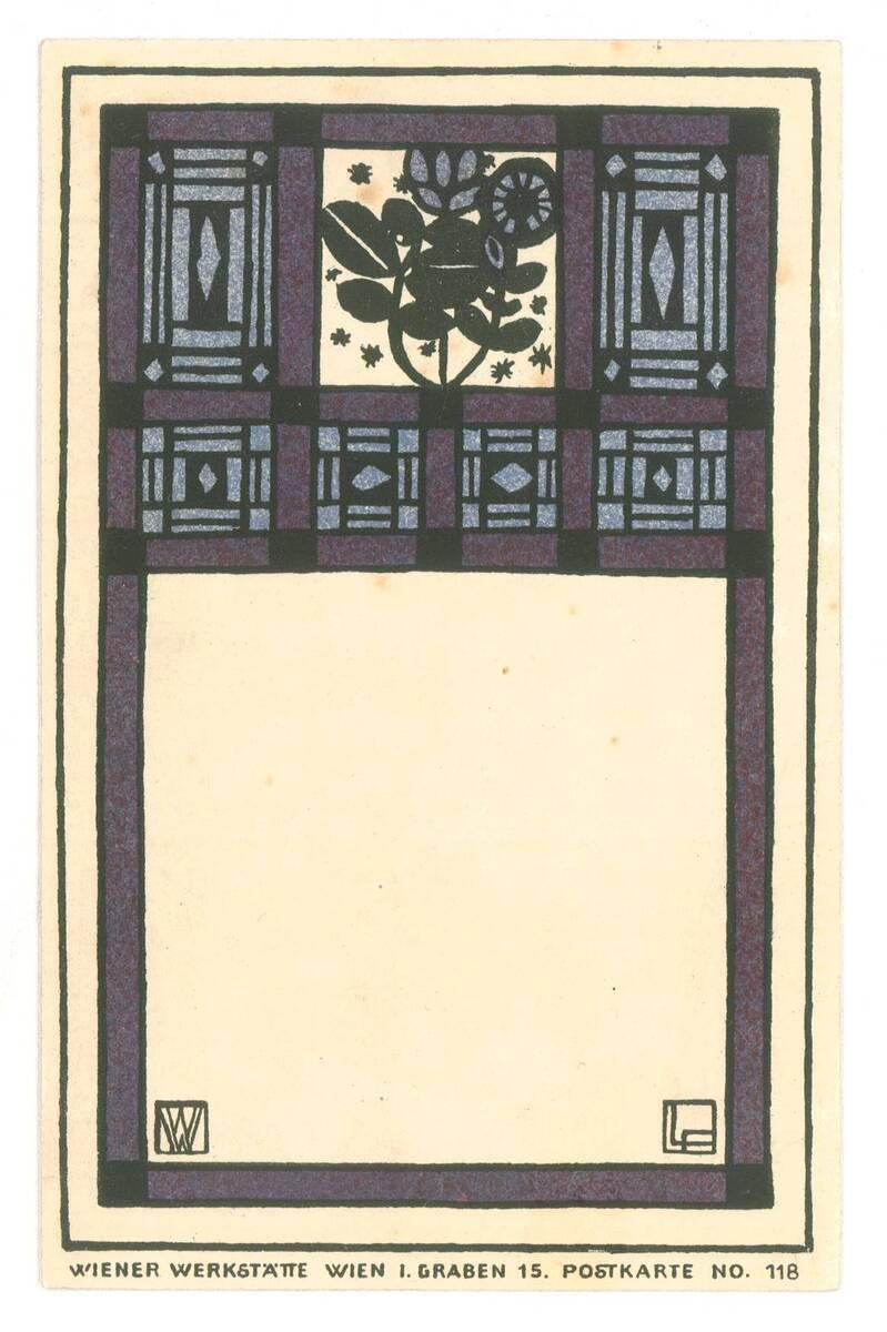 Postkarte Nr. 118 von Wiener Werkstätte