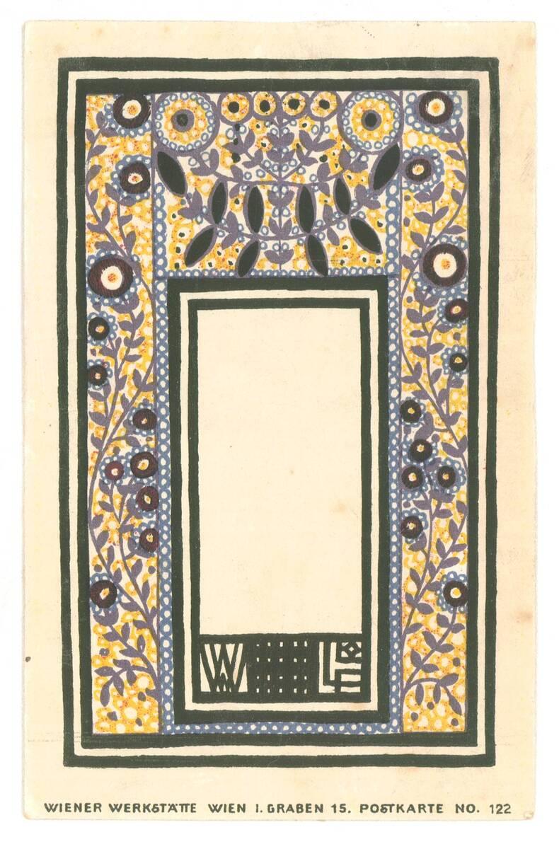Postkarte Nr. 122 von Wiener Werkstätte