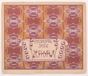 Bedruckte Seide Zephyrus [recto] (Originaltitel) von Moser, Koloman