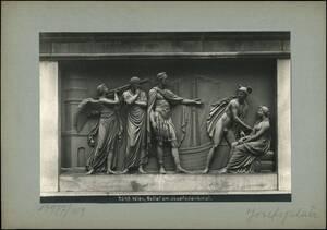 Fotografie eines Reliefs am Denkmal Kaiser Josefs II. am Josefsplatz (vom Bearbeiter vergebener Titel) von Reiffenstein, Bruno