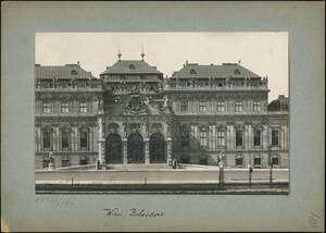 Fotografie des Oberen Belvedere (vom Bearbeiter vergebener Titel) von Reiffenstein, Bruno