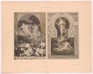 """La danse. Musique. L´amour. Tanz. Musik. Liebe. Dance. Music. Love. Tafel No.36. aus """"Allegorien Serie 1"""" herausgegeben von Martin Gerlach (vom Bearbeiter vergebener Titel) von Rothaug, Alexander"""