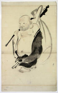 Glücksgott Hotei 布袋 von Anonym