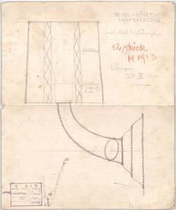 """""""Waggonlampe"""", Villa Dr. Otto Böhler, Kapfenberg, Mariazellerstraße 32, Steiermark (Originaltitel) von Wiener Werkstätte"""
