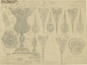Kopie eines Silberpokals mit zahlreichen figürlichen Darstellungen von Wenzel Jamnitzer oder Janus Lutma im Besitze der Goldschmiedeinnung zu Nürnberg von Georg Christian Wilder von Wilder, Georg Christian