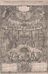 """Der Triumph der christlichen Kirche. """"Pictura et imago ecclesiae."""" Auf zwei Platten radiert, herausgegeben von W. Jamnitzer von Amman, Jost"""