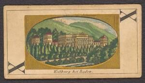 """Spielkarte """"Weilburg bei Baden"""" (vom Bearbeiter vergebener Titel) von Anonym"""