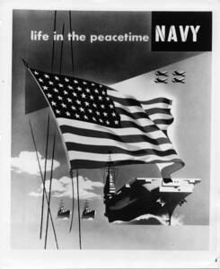 """Fotografie des Plakats """"Life in the Peacetime. Navy"""" (vom Bearbeiter vergebener Titel) von Binder, Joseph"""