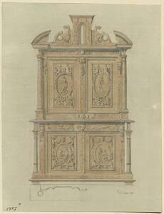 Kopie eines Kasten des 16. Jahrhunderts mit figürlichen Darstellungen aus dem Musée Cluny zu Paris von Valentin Teirich von Teirich, Valentin