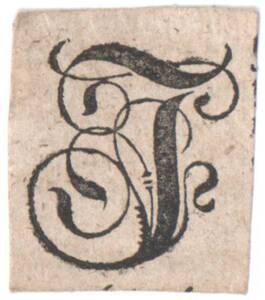 Der Buchstabe I, ausgeschnitten (vom Bearbeiter vergebener Titel) von Anonym