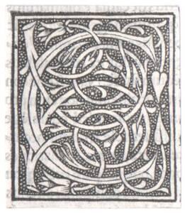 Der Buchstabe C, ausgeschnitten (vom Bearbeiter vergebener Titel) von Anonym