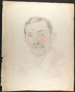 Portrait August Schestag von Anonym