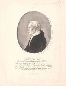 Portrait von Immanuel Kant von Schnorr von Carolsfeld, Hans Veit Friedrich
