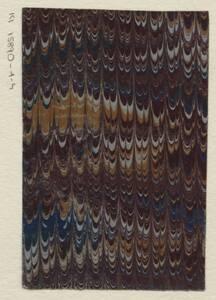 Muster für ein Marmorpapier von Anonym
