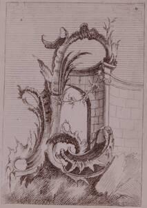 Fotografie eines Ornamentstichs des 18. Jahrhunderts (vom Bearbeiter vergebener Titel) von Anonym