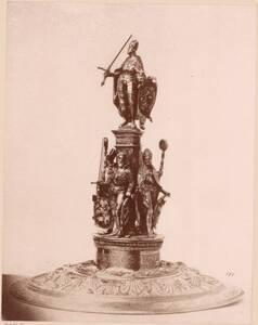 Lichtdruck des Deckels vom Pokal von Wenzel Jamnitzer von ca. 1580 von Anonym