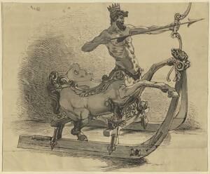 Kopie eines Prunkschlittens mit Kentaur aus dem Besitz des Ulmer Patriziers Marx Philipp Besserer (1594-1635) im Residenzschloss Urach (WLM 875) von Gnauth, Adolf