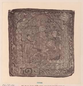 """Fotografie eines Details der Albe von Bonifaz VIII: """"Flucht nach Ägypten"""" aus dem Dom in Anagni (vom Bearbeiter vergebener Titel) von Anonym"""