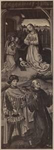 Fotografie einer Malerei am linken Flügel (Innenseite) eines Triptychons des Philippe dem Guten, Herzog von Burgund von Michelez