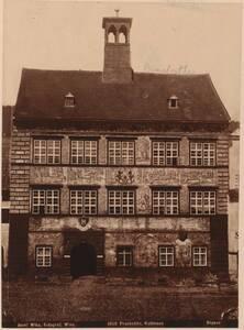 Fotografie des Rathauses in Prachatice (Prachatitz) (vom Bearbeiter vergebener Titel) von Wlha, Josef
