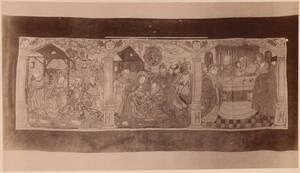Fotografie eines gestickten Antependiums des 16. Jahrhunderts (vom Bearbeiter vergebener Titel) von Angerer, Victor