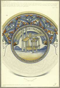 Kopie eines Tellers aus dem South Kensington Museum (vom Bearbeiter vergebener Titel) von Schmoranz, Gustav