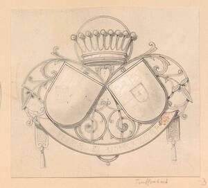 Ein unvollendeter Entwurf für ein Allianz Wappen (vom Bearbeiter vergebener Titel) von Groner, Anton