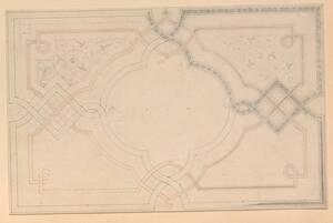 Ein unvollendeter Entwurf für einen Bucheinbanddeckel (vom Bearbeiter vergebener Titel) von Groner, Anton